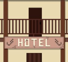 Wild West pixel Hotel Sticker