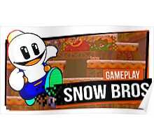 Snow Bros Retro Poster