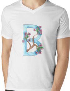 B is for Blossom Mens V-Neck T-Shirt