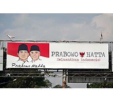 prabowo hatta rajasa billboard Photographic Print