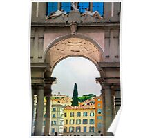 Watercolor painting of Florence, Italy Poster