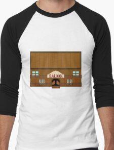 Wild West pixel Saloon Men's Baseball ¾ T-Shirt