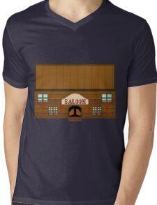 Wild West pixel Saloon Mens V-Neck T-Shirt