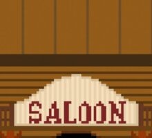 Wild West pixel Saloon Sticker