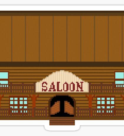 Wild West pixel Saloon Sticker