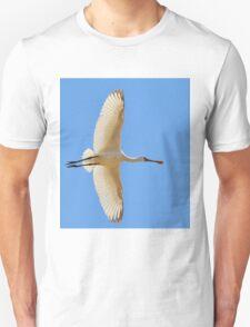 Spoonbill Stork - Flying High - African Wild Birds T-Shirt