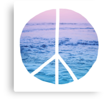 Waves and Peace Canvas Print