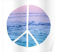 Waves and Peace Poster