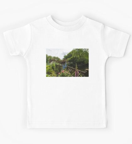 English Cottage Garden - a Blissful Space with a Riot of Flowers and a Bonus Squirrel Kids Tee