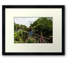 English Cottage Garden - a Blissful Space with a Riot of Flowers and a Bonus Squirrel Framed Print