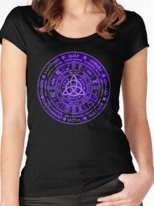 Celtic Pagan Year Wheel Calendar Women's Fitted Scoop T-Shirt