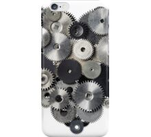 Heart shape made of metal pinions and sprockets iPhone Case/Skin