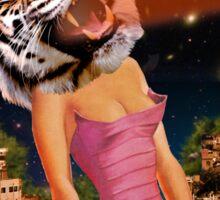Tiger Babe Always Gets Her Man Sticker