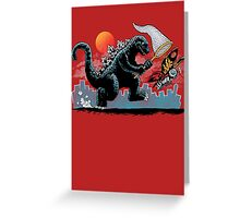 Catching Kaiju Greeting Card