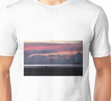 out to sea at sunset Unisex T-Shirt