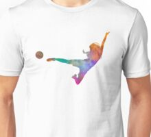 Woman soccer player 02 in watercolor Unisex T-Shirt