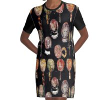 Foxy Carved Pendants  Graphic T-Shirt Dress