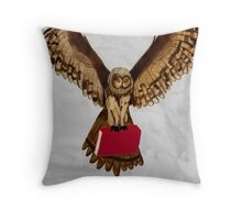 Owl Flight Throw Pillow