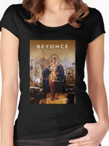 beyonce the mrs carter album cover KLUWER Women's Fitted Scoop T-Shirt