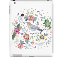 Beautiful bird in flowers iPad Case/Skin