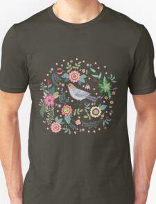 Beautiful bird in flowers T-Shirt