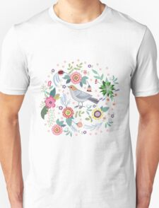 Beautiful bird in flowers T-Shirt