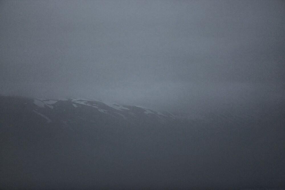 misty mountain in Svarfaðardalur by Rebecca Tun
