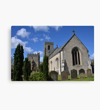 St Nicholas West Tanfield Canvas Print
