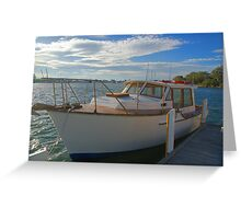 The family boat Greeting Card