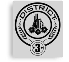 The Hunger Games - District 3 Technology Canvas Print