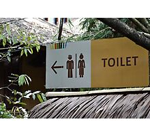 saung angklung udjo toilet sign Photographic Print