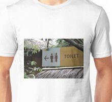 saung angklung udjo toilet sign Unisex T-Shirt