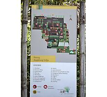 saung angklung udjo area map sign Photographic Print