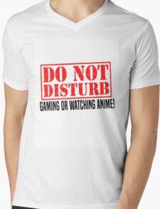 Do Not Disturb Mens V-Neck T-Shirt