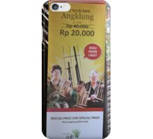 saung angklung udjo banner iPhone Case/Skin
