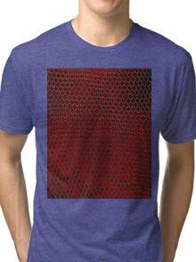 Net Art - 1 Layer - Red Hot Tri-blend T-Shirt