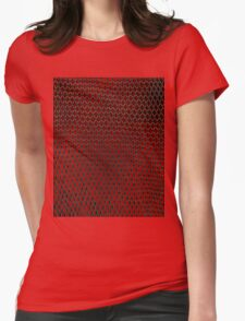 Net Art - 1 Layer - Red Hot Womens Fitted T-Shirt