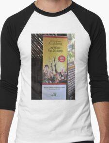 saung angklung udjo banner Men's Baseball ¾ T-Shirt