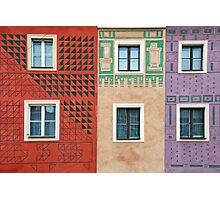 Colorful facades in Poznan - Poland Photographic Print