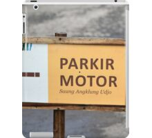 saung angklung udjo parking sign iPad Case/Skin