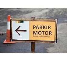 saung angklung udjo parking sign Photographic Print