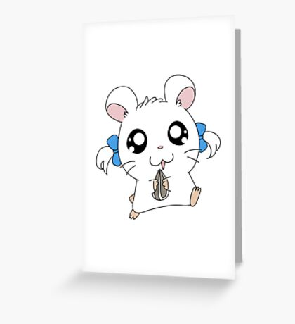 hamtaro Greeting Card