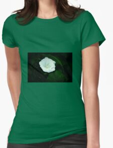 white wild flower Womens Fitted T-Shirt