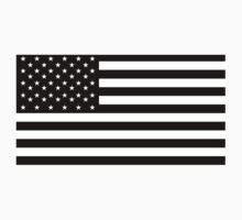 American Flag, STARS & STRIPES, USA, America, Americana, Funeral, Mourning, in Mourning, Black on Black One Piece - Short Sleeve
