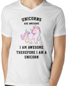 I am a unicorn Mens V-Neck T-Shirt