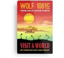 Wolf 1061c Exoplanet Space Travel Illustration Metal Print