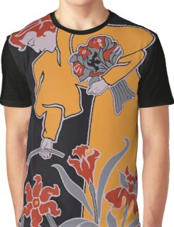 Lady with flowers modern art nouveau Graphic T-Shirt