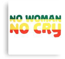 No Woman No Cry Bob Marley Lyrics Peace Love Canvas Print
