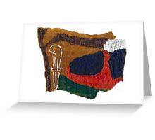 Soul landscape on baking parchment Greeting Card