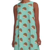 Hedgehog Crown A-Line Dress